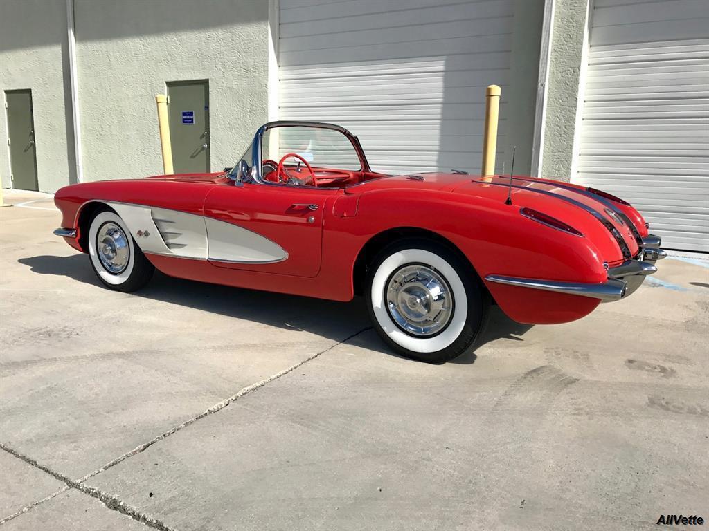 1958 corvette for sale florida 1958 corvette convertible. Black Bedroom Furniture Sets. Home Design Ideas