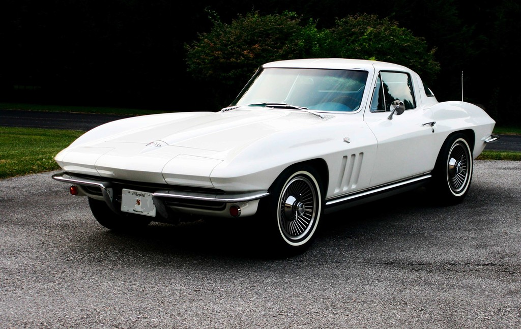 fs 1965 ermine white corvette coupe in md 59 900 obo. Black Bedroom Furniture Sets. Home Design Ideas