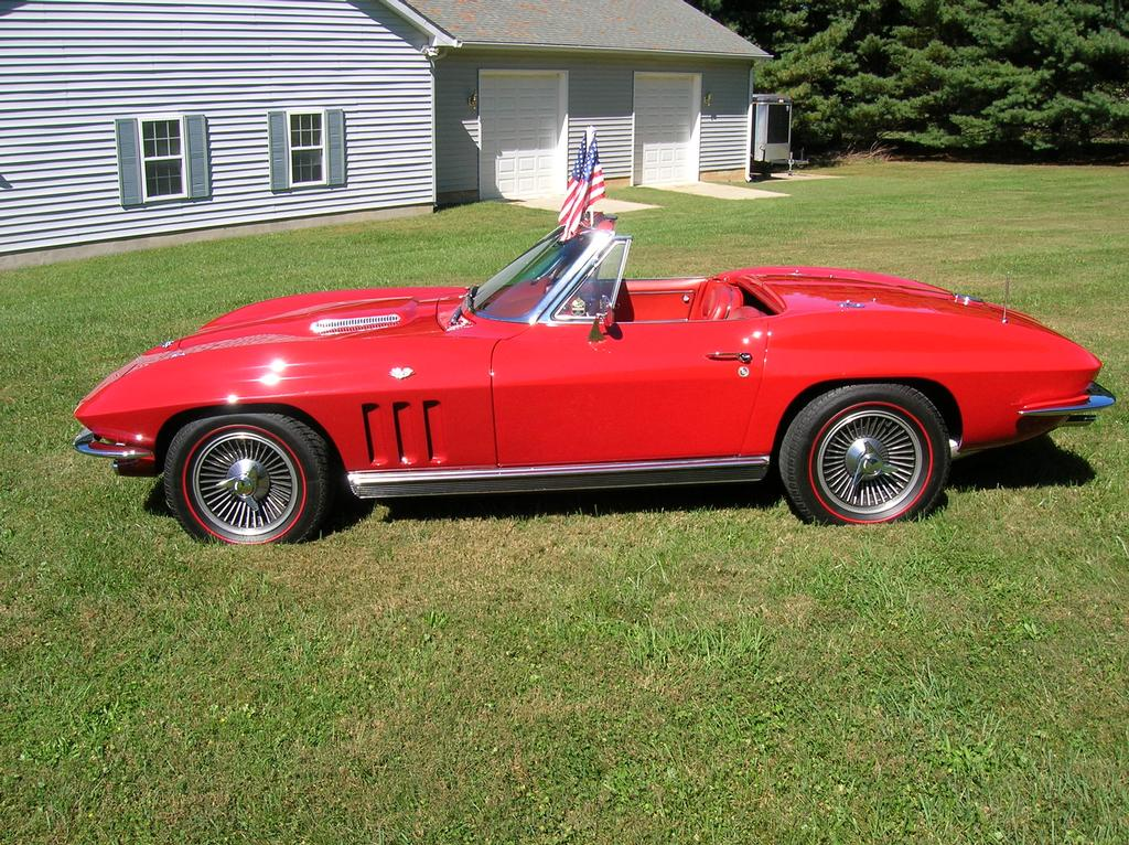 fs for sale 1966 rally red corvette convertible in md. Black Bedroom Furniture Sets. Home Design Ideas