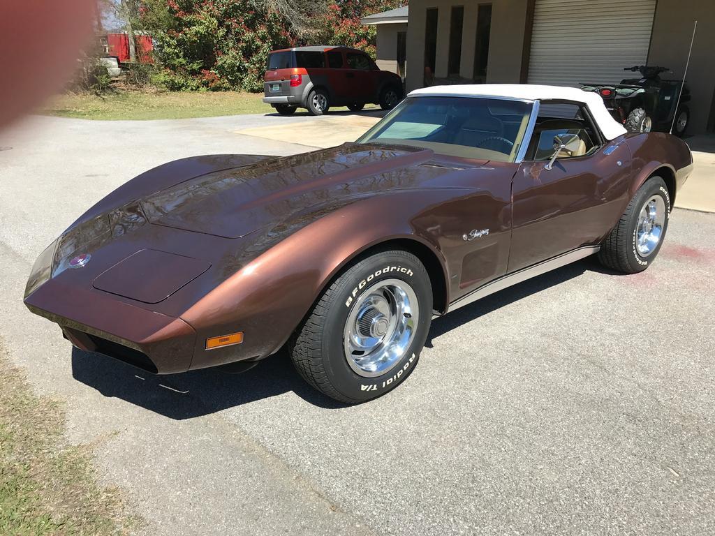 fs for sale 1974 chocolate corvette convertible in al 19 500 corvetteforum chevrolet. Black Bedroom Furniture Sets. Home Design Ideas