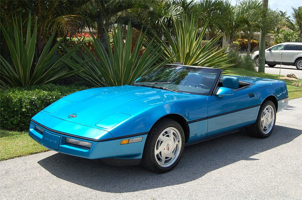 Fs 1989 Medium Blue Corvette Convertible In Fl 10 900