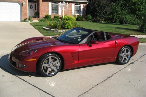 FS: 2007 Monterey Red Corvette Convertible in IL - $42,000 ...
